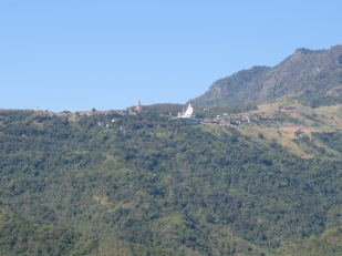 view of the buddha on the hill