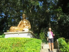 Buddha after the hill climb Ginette insisted we did on our day off