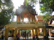 Part of the temple on Ginette's hill climb, Chaing Mai