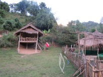 Our Bamboo hut for the night in the Karen hill tribe settlement