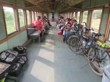 old style train trip to Kanchanaburi