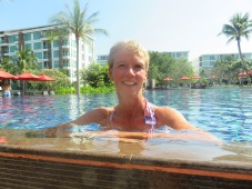 Christmas day by the pool in Hua Hin.