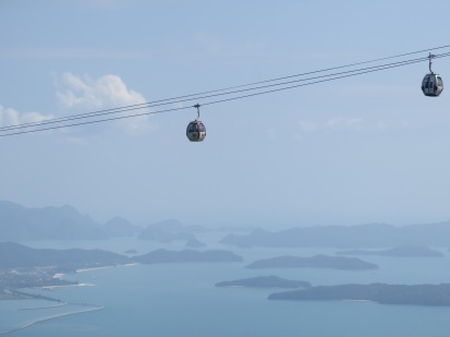 cable cars looking out at Langkawi