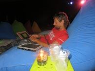 chill, beach, beer and research under the stars beautiful