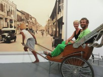 a ride in a rickshaw or is it?