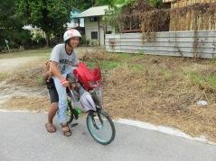 suped up push bike with motorbike fairings