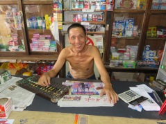 abacus being used by local shopkeeper