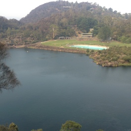 natural lake and pool area in the Cataract at Launceston