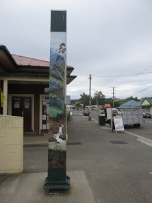 Lilydale, painted posts.