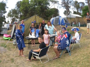 A family on Australia day