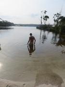 Gary at bath time, pioneer lake.