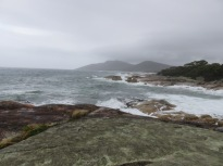 view from the coastal road East Tasmania
