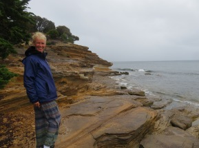 windy and wet Maria Island with some stunning views - Painted Cliffs