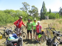 these cyclists were in their 70's but managed to keep up with us on our way to Queenstown
