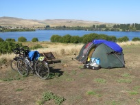 views from one of our wild camp sites - Meadow Bank Lake