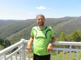 Gary at the top of Tarraleah Water Power Station