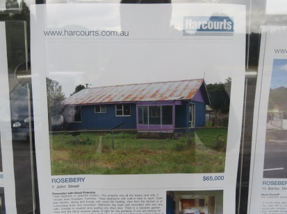 fancy emigrating to Tasmania? this is about 30k english money and most properties in rural towns look like this
