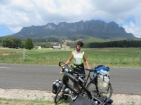 silly grin at lunch break but what a stunning backdrop