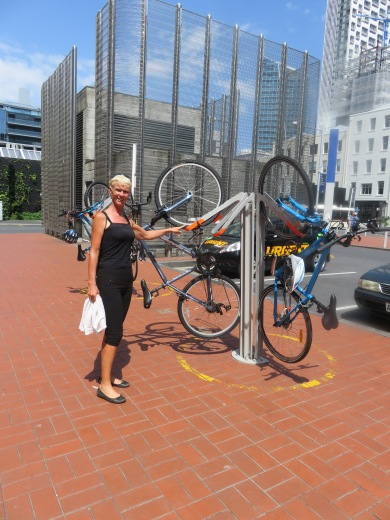 Innovotive bike rack in Aukland