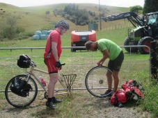 first of 3 punctures this week (1 for Stuart and 2 for Gary)