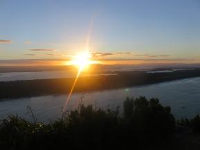 Sunset on top of Mount Maunganui