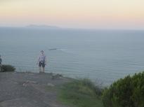 Stu on top of Mount maunganui