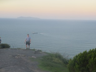 Stu on top of Mount maunganui