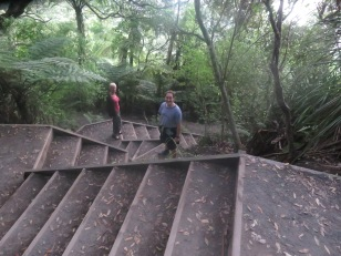 Gary can find stairs anywhere even in New Zealand