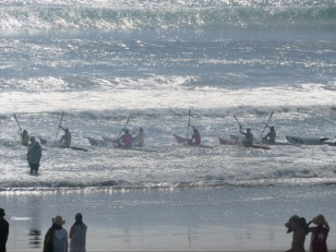 sea surf race, Mount Maunganui