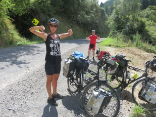 Thumbs down from Net but thumbs up for Stu, If he keeps finding these gravel roads Net is threatening to send him home.
