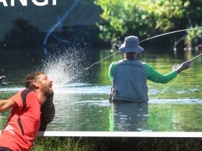 fly fisherman trying to extract Garys wisdom teeth