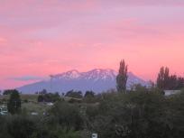 sun setting on Mount Ruapehu