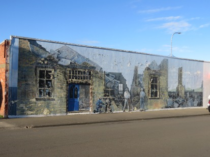 one of many murals in a town called Foxton