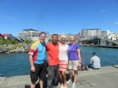 catching up with our good dragon boat friend Janet in Wellington