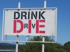 clear and blunt anti drinking sign