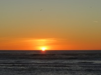 Sunset at Greymouth