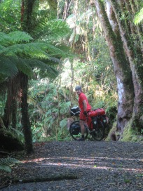 Off road cycle route to Fox Glacier
