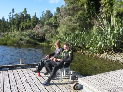 Its a hard life at lake Paringa, well it is when the sandflies start biting.