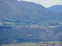 The zig zag road down from Crown range, Queenstown